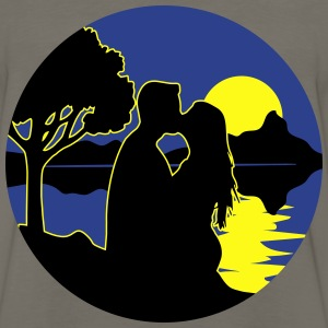 full moon romance nature T-Shirts - Men's Premium Long Sleeve T-Shirt