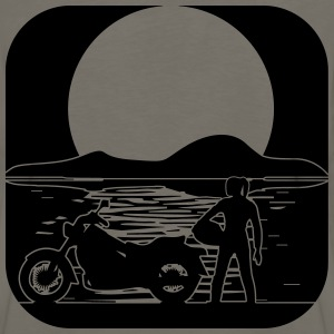 full moon motorcycle T-Shirts - Men's Premium Long Sleeve T-Shirt