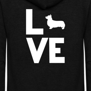 Corgi Love Funny T-Shirt T-Shirts - Unisex Fleece Zip Hoodie by American Apparel