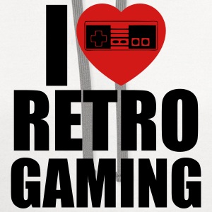 i love retro gaming T-Shirts - Contrast Hoodie
