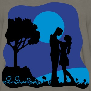 full moon liebespaar nature T-Shirts - Men's Premium Long Sleeve T-Shirt