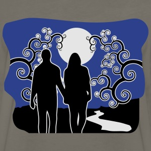 full moon liebespaar river T-Shirts - Men's Premium Long Sleeve T-Shirt