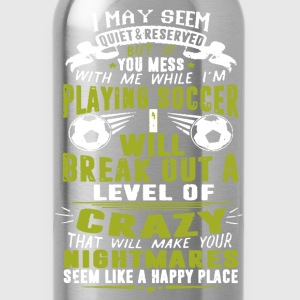 Playing Soccer Shirt - Water Bottle