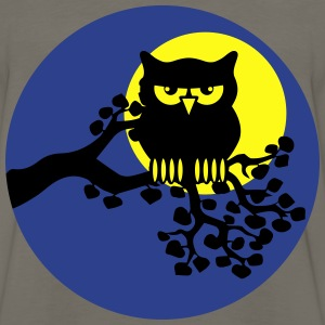full moon owl ast T-Shirts - Men's Premium Long Sleeve T-Shirt