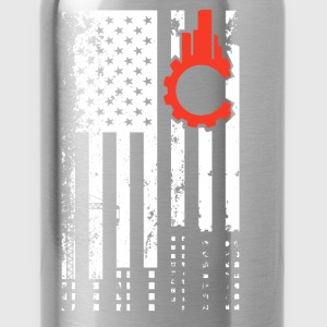 Civil Engineer Flag Shirt - Water Bottle