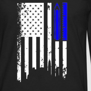 Architecture Flag Shirt - Men's Premium Long Sleeve T-Shirt