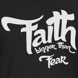Faith > fear - Men's Premium Long Sleeve T-Shirt