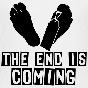the end is coming foot Kids' Shirts - Toddler Premium T-Shirt