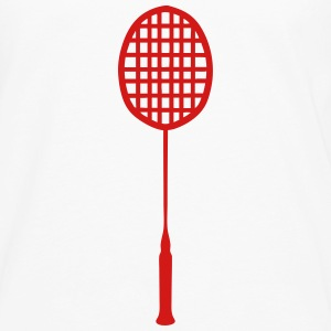 racket badminton 0 Kids' Shirts - Men's Premium Long Sleeve T-Shirt