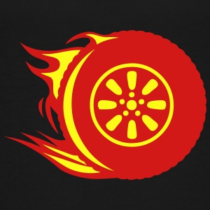 flame wheel tire fire 1302 Kids' Shirts - Toddler Premium T-Shirt