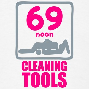 69 noon cleaning tools sex Long Sleeve Shirts - Men's T-Shirt