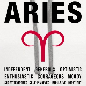 Aries Zodiac Personality Women's T-Shirts - Contrast Hoodie