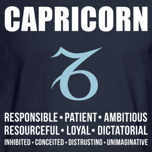 Capricorn Personality Women's T-Shirts - Men's Long Sleeve T-Shirt