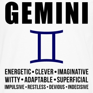 Gemini Zodiac Personality Women's T-Shirts - Men's Premium Long Sleeve T-Shirt