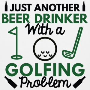 Beer Drinker Golfing - Men's Premium Tank
