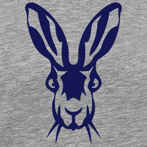 hare rabbit head ferocious animals 12093 Hoodies - Men's Premium T-Shirt