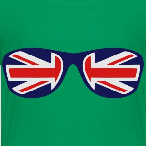 english flag sunglasses union jack Kids' Shirts - Toddler Premium T-Shirt