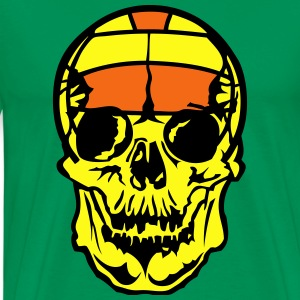skull volleyball water polo ball 5 Hoodies - Men's Premium T-Shirt