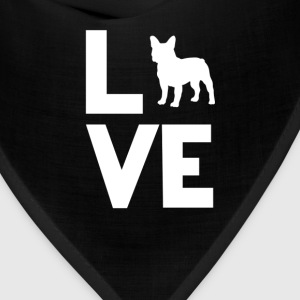 French Bulldog Love Funny T-Shirt T-Shirts - Bandana