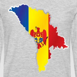 National territory and flag Moldova - Men's Premium Long Sleeve T-Shirt