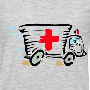 Ambulance van cartoon art T-Shirts - Men's Premium Long Sleeve T-Shirt