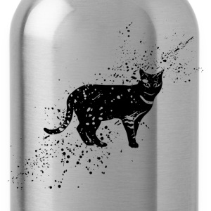 Grungy cat symbol - Water Bottle
