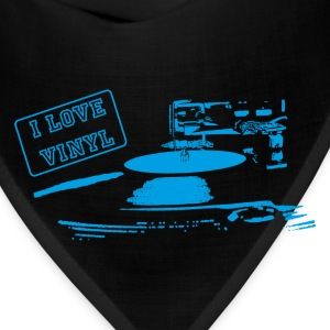 I Love Vinyl blue Mugs & Drinkware - Bandana