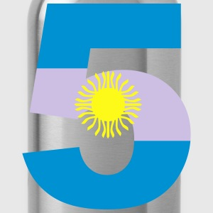Argentinia Numbers, 5, Jersey Numbers Argentinia Kids' Shirts - Water Bottle