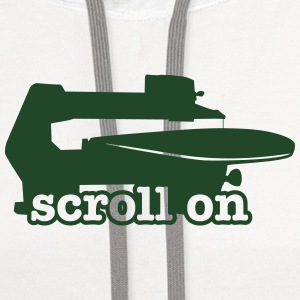 Scroll saw button.  - Contrast Hoodie