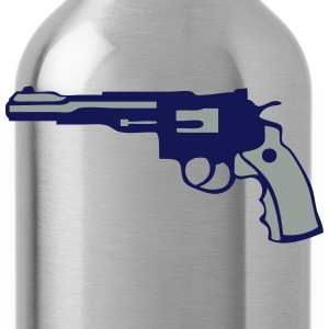 magnum revolver gun pistol six hits 12 Kids' Shirts - Water Bottle