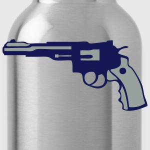 magnum revolver gun pistol six hits 12 Women's T-Shirts - Water Bottle