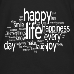 Happy Life Daily Emotion Quote Hoodies - Men's Premium Long Sleeve T-Shirt