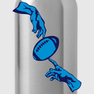 us twohand football god man ball hits Tanks - Water Bottle