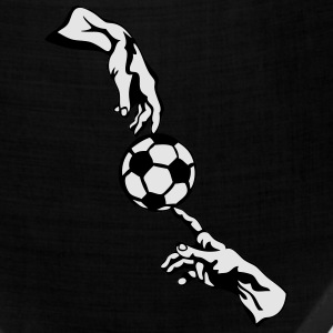 soccer ball god hits two hand man T-Shirts - Bandana