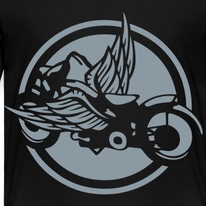 vintage motorcycle wing logo 2 Kids' Shirts - Toddler Premium T-Shirt