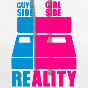 guys girl reality side bed T-Shirts - Contrast Hoodie