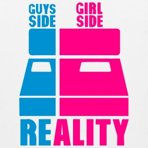 guys girl reality side bed T-Shirts - Men's Premium Tank
