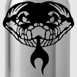 tribal snake tongue viper 1202 Women's T-Shirts - Water Bottle