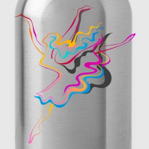 Colorful dance line art T-Shirts - Water Bottle