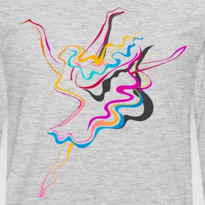 Colorful dance line art T-Shirts - Men's Premium Long Sleeve T-Shirt