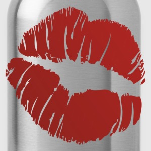 Red lip marks design T-Shirts - Water Bottle