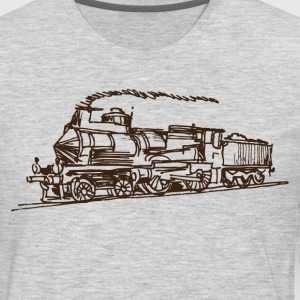 Ancient hand drawn transport vehicle T-Shirts - Men's Premium Long Sleeve T-Shirt