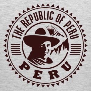 Peru travel stamp T-Shirts - Men's Premium Tank
