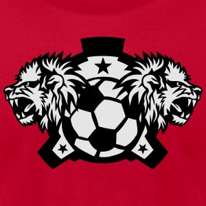lion roars soccer club logo 1202 Hoodies - Men's T-Shirt by American Apparel