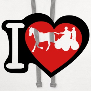 love horse hitch 1 Kids' Shirts - Contrast Hoodie