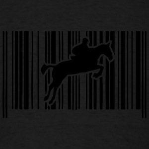 jump obstacle riding bar code 2 Long Sleeve Shirts - Men's T-Shirt