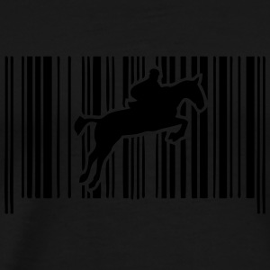 jump obstacle riding bar code 2 Long Sleeve Shirts - Men's Premium T-Shirt