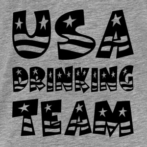 USA DRINKING TEAM Hoodies - Men's Premium T-Shirt