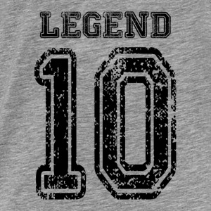 The LEGEND Number 10 Hoodies - Men's Premium T-Shirt
