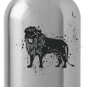 Grungy lion symbol - Water Bottle